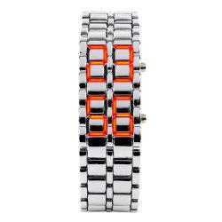 LED Alloy Stylish Creative Watch -