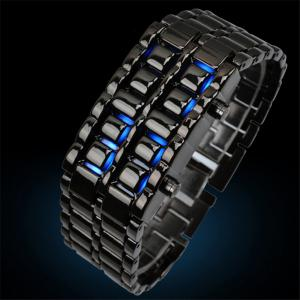 LED Alloy Chain  Men Watch -