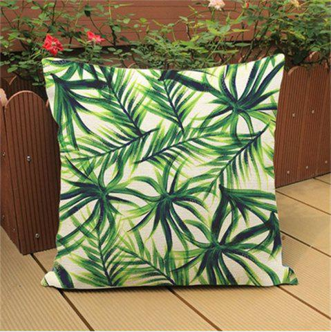 Hot Tropical Plants Fashion Leaves Rainforest Pillowcase