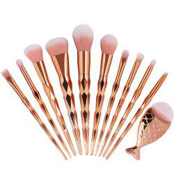 Spiral Mermaid Makeup Brush Set 11PCS -