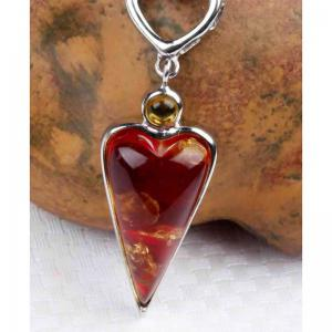 Amber Silver Pendant36103 Gift Jewelry -