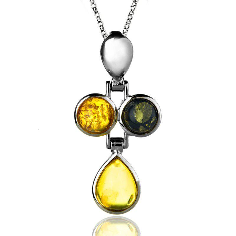Affordable Amber Silver Pendant36109 Gift Jewelry