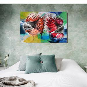 Printing Oil Painting Modern Decorative Color Goldfish Home Wall Art -