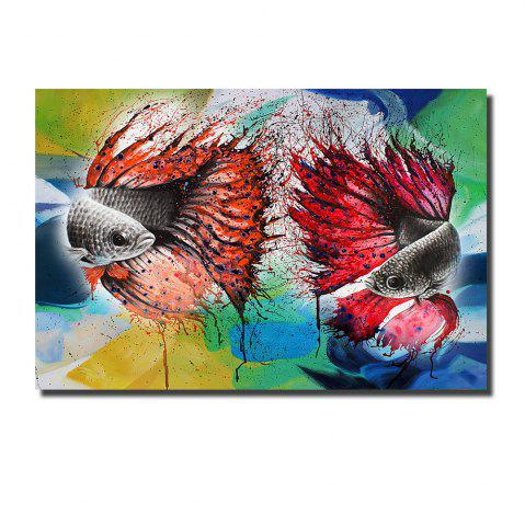 Best Printing Oil Painting Modern Decorative Color Goldfish Home Wall Art