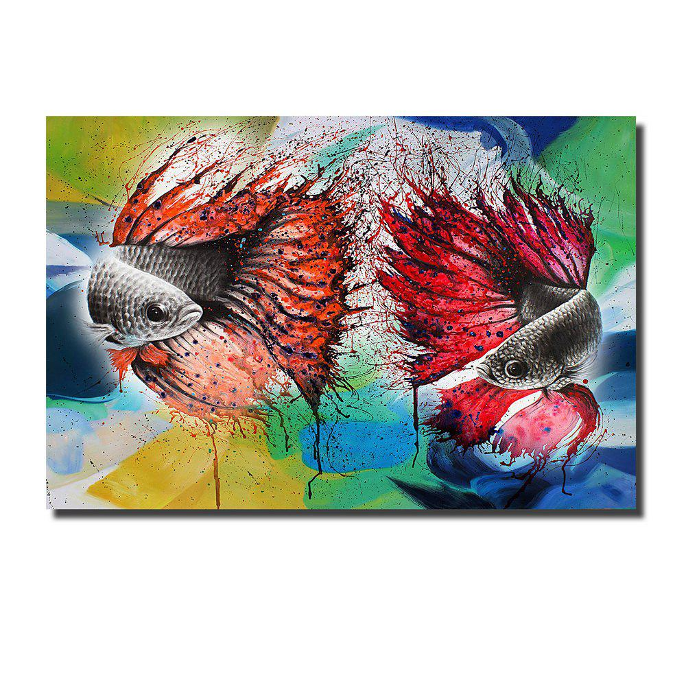 Affordable Printing Oil Painting Modern Decorative Color Goldfish Home Wall Art