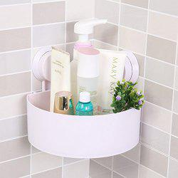 Bathroom Wall-Mounted Sucker Triangle Shelf Storage for Bathroom and Kitchen -