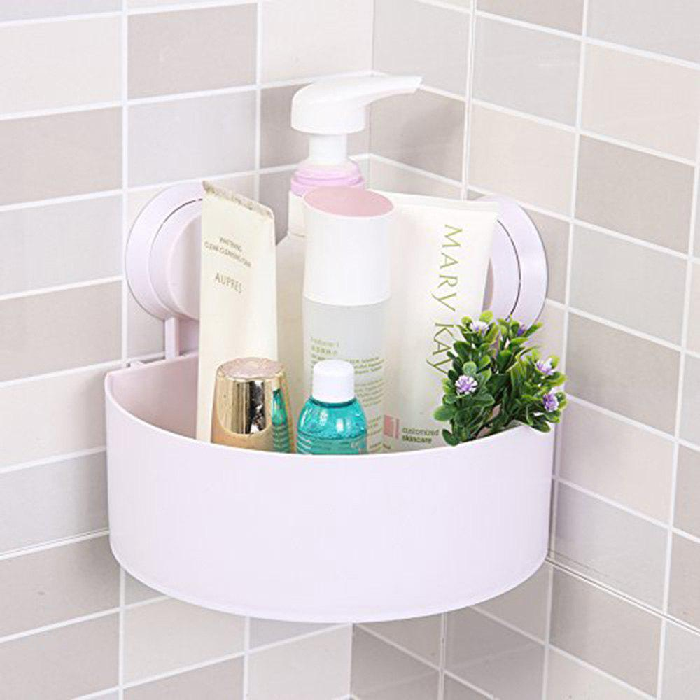 New Bathroom Wall-Mounted Sucker Triangle Shelf Storage for Bathroom and Kitchen