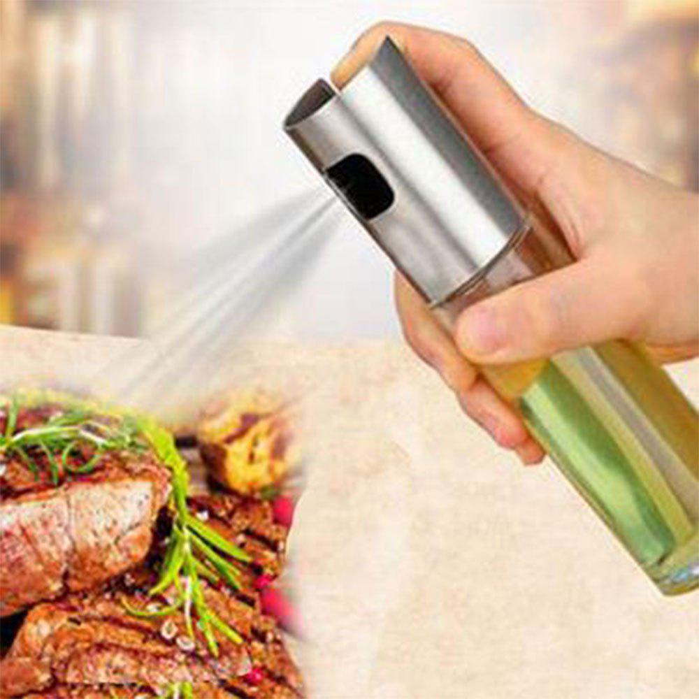 Store Oil Sprayer Stainless Steel Kitchen Spraying Bottle