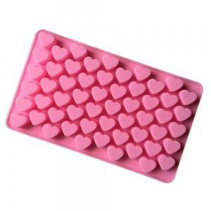 Silicone 55 Heart Shaped Candy Chocolate Cake Baking Pan Mold -