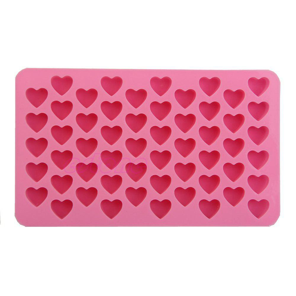 Силикон 55 Heart Shaped Candy Chocolate Cake Baking Pan Mold