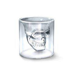Creative Skull Transparent Beer Red Wine Whiskey Coffee Milk Tea Glass Skeleton Water Cup Mug 75ML -