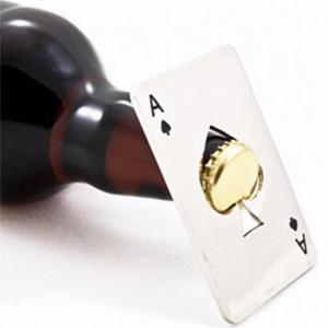 Creative Poker Card Shaped Bottle Opener Stainless Steel Beer Wine Soda Openers Bar Kitchen Tool -