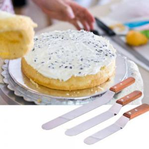 3PCS Butter Cake Cream Spatula Smoother Icing Frosting Spreader Fondant Pastry Cakes Decoration -