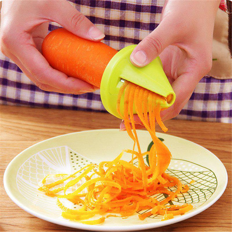 Best Kitchen Gadget Funnel Vegetable Carrot Radish Cutter Shred Slicer Spiral Device