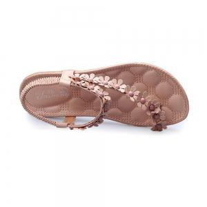 Summer Women Causal Sandals PU Flat Shoes for Girls -