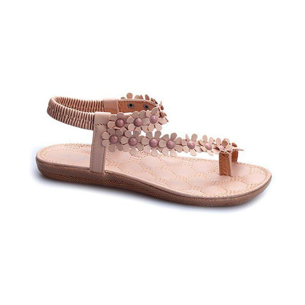Shop Summer Women Causal Sandals PU Flat Shoes for Girls