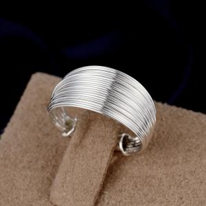 Adjustable Circular Opening Silver Plated Ring Charm Jewelry -