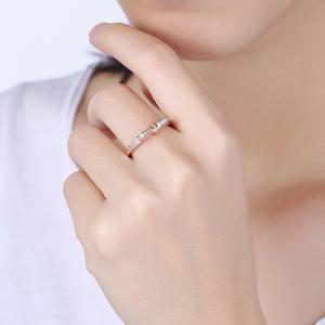 Creative Bowknot Shape Zircon Ring Charm Jewelry -