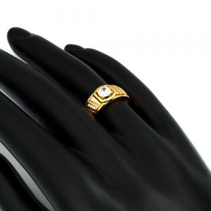 Elegant Geometric Zircon Ring Charm Jewelry Gift for Men -