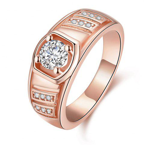 Unique Elegant Geometric Zircon Ring Charm Jewelry Gift for Men