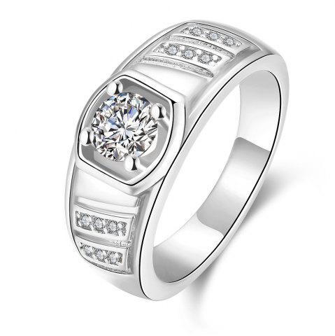 Best Elegant Geometric Zircon Ring Charm Jewelry Gift for Men