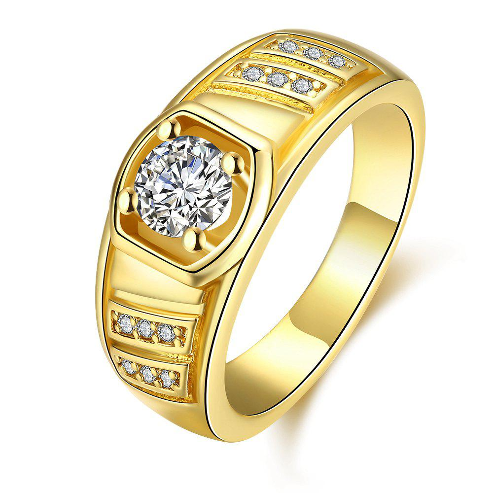 Latest Elegant Geometric Zircon Ring Charm Jewelry Gift for Men