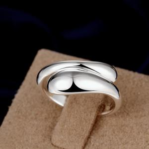 Adjustable Water Droplet Opening Ring Charm Jewelry -