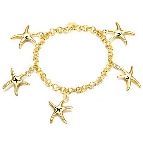 Sale Korean Style Romantic Starfish Pendant Chain Bracelet for Women Charm Jewelry