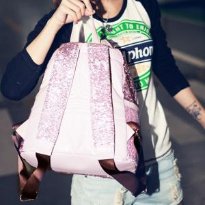 Fashionable New Style Of Double-shouldered Bright Piece  Female Bag -