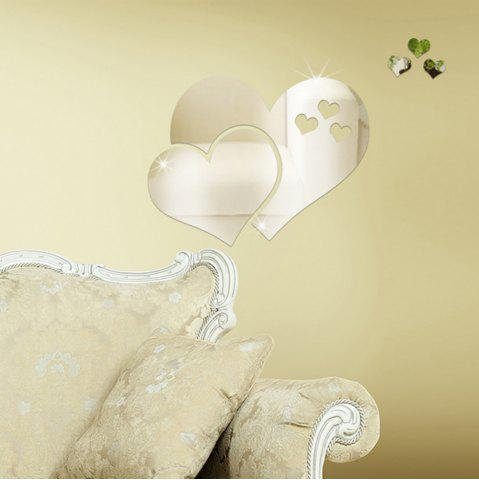 Discount DIY Three-dimensional Mirror Heart-shaped Wall Stickers