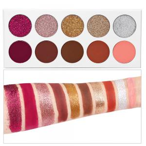 10 Color Powder Pink Pearl Matte Long-lasting Eye Shadow -