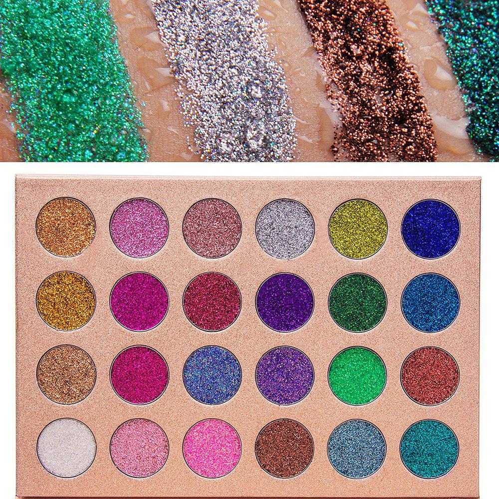 Unique 24 Colors Gold and Onion Powder Sequined Eyeshadow