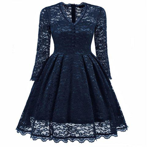 Fashion Women's Summer Robe Rockabilly Tunic Lace Evening Party Dress
