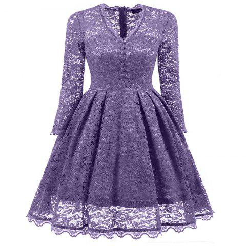 Affordable Women's Summer Robe Rockabilly Tunic Lace Evening Party Dress