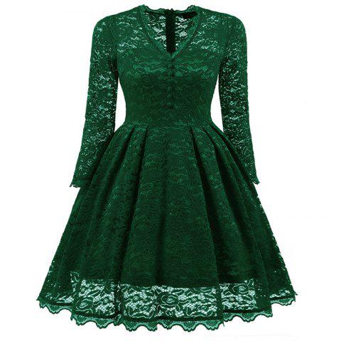 Latest Women's Summer Robe Rockabilly Tunic Lace Evening Party Dress