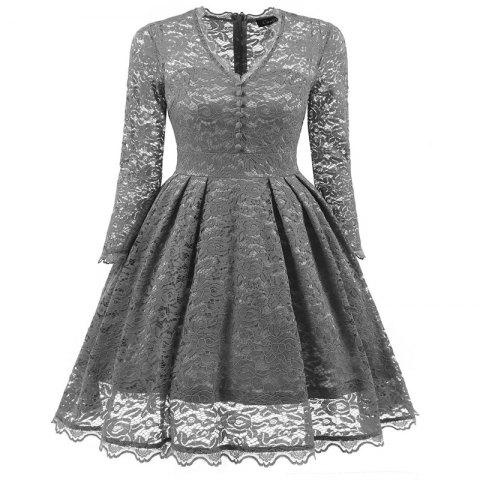 Online Women's Summer Robe Rockabilly Tunic Lace Evening Party Dress