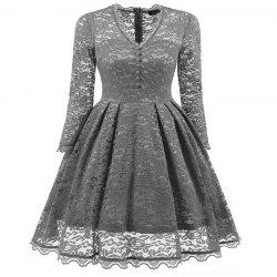Women's Summer Robe Rockabilly Tunic Lace Evening Party Dress -