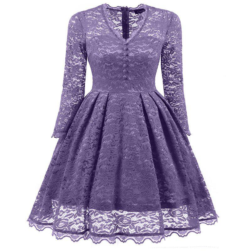 Outfit Women's Summer Robe Rockabilly Tunic Lace Evening Party Dress