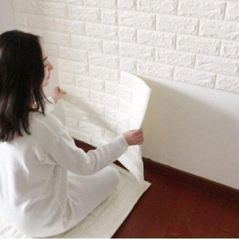 Unique 3D Brick Pattern Three-Dimensional Adhesive Simple Style Wall Stickers