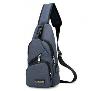 CTSmart 0817 Polyester USB Port Sling Bag -