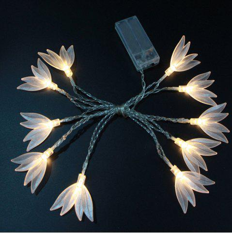 Discount Transparent Clover LED String Battery Powered Home Decorating Light Night Light 10 Head 1.65m