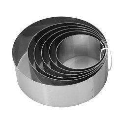6 Pcs Mousse Cake Ring Stainless Steel Round Small Cakes Mold 6 to 12 Cm DIY Biscuit Bakeware Kitchen Baking Tool -