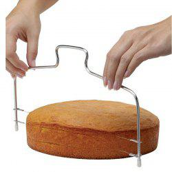Adjustable Double Slice Bread Cutter Durable Leveler Stainless Steel Cake Baking Accessories Gadget -