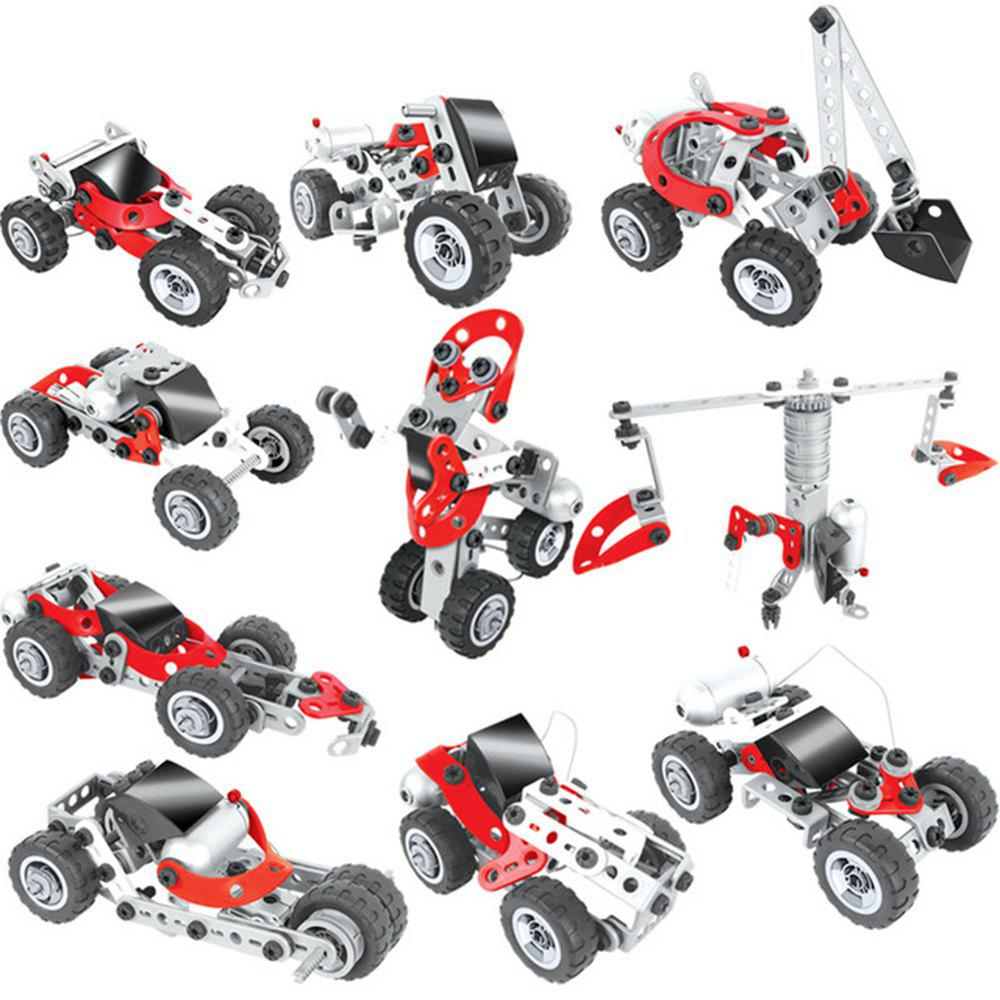 Chic DIY 10 in 1 3D Building Blocks with Electronic Power Education Learning Toy 100PCS