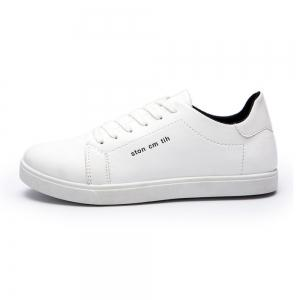 Men Fashion PU Flat Shoes Casual Sneakers for Students -