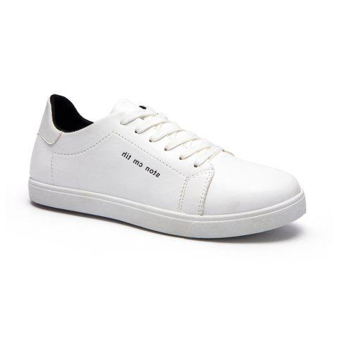 Outfit Men Fashion PU Flat Shoes Casual Sneakers for Students