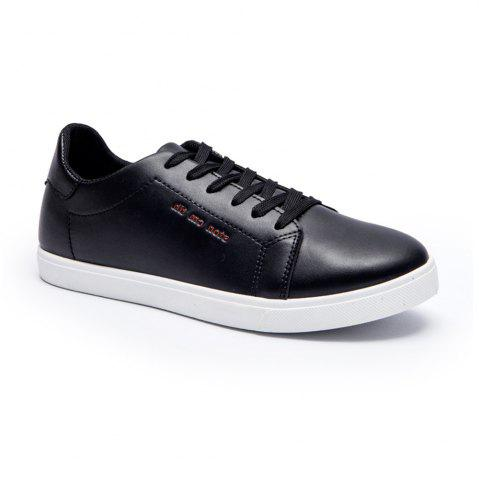 Latest Men Fashion PU Flat Shoes Casual Sneakers for Students