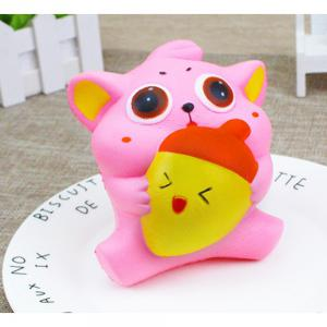Jumbo Squishy Squeeze PU Cat and Fish Packaging Collection Gift Soft Toy -