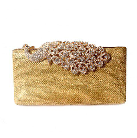 Store Women Bags Poly Urethane Metal Evening Bag Crystal Rhinestone For Wedding Event Party Formal