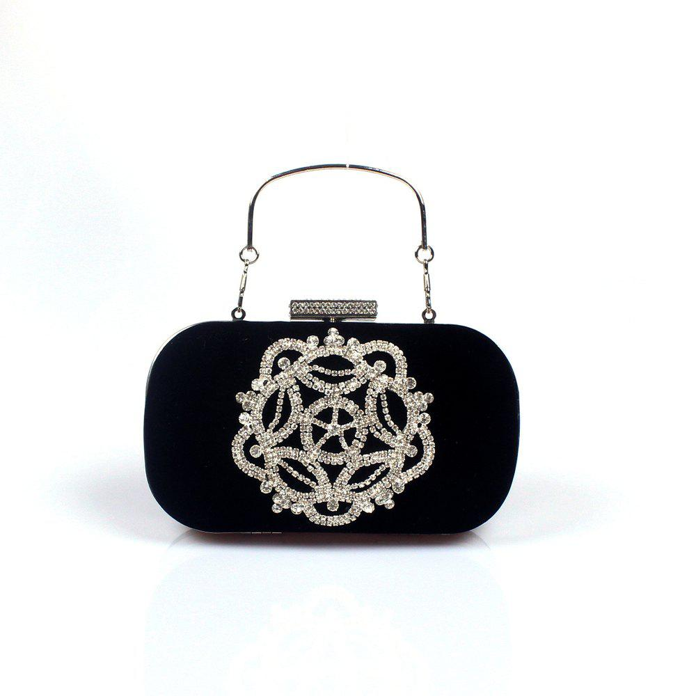 Outfits Women Velvet Evening Bag Crystal Rhinestone Wedding Event Party Formal